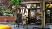 Image of store front with bike